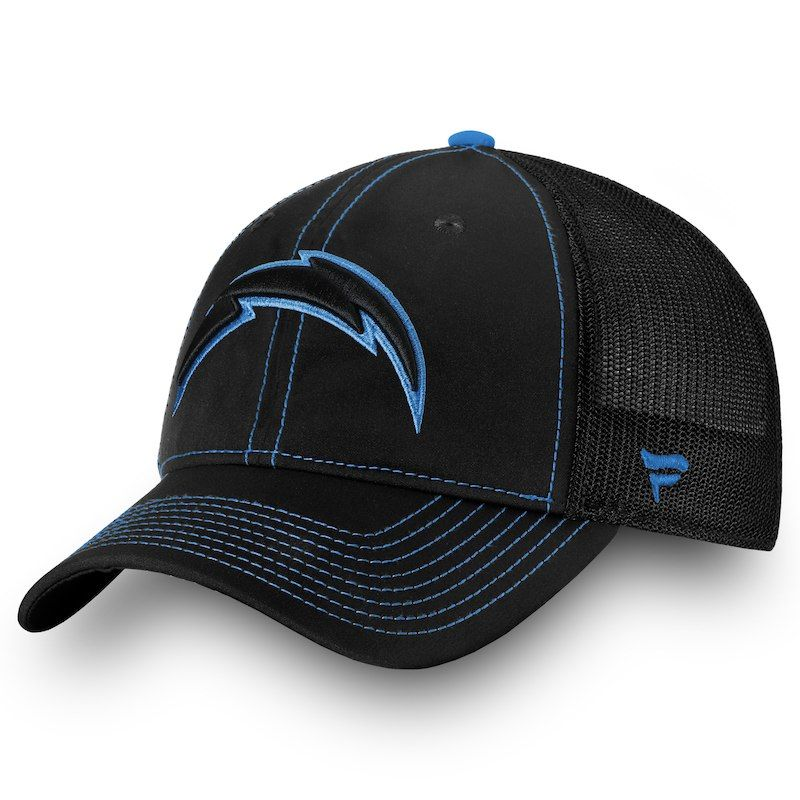 separation shoes 37717 84f9f Los Angeles Chargers NFL Pro Line by Fanatics Branded Iconic Agile Flex Hat  - Black