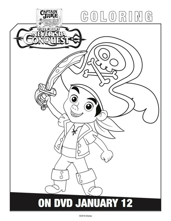 Disney Captain Jake and the Neverland Pirates Coloring Page ...