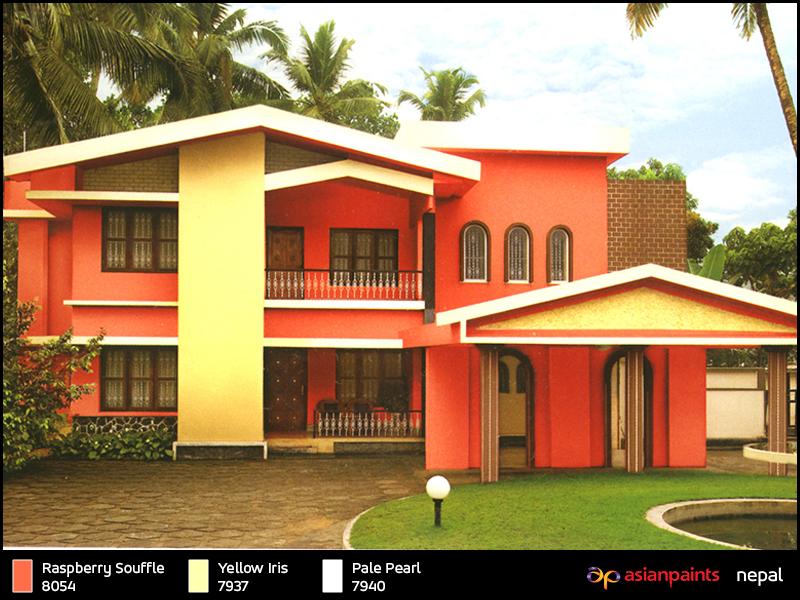 Asian Paint Model House House Exterior Color Schemes Asian Paints Colour Shades Exterior House Color