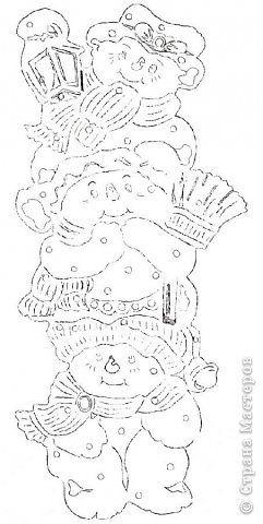Картина панно рисунок Новый год Вырезание Не идёт ли Дед ...