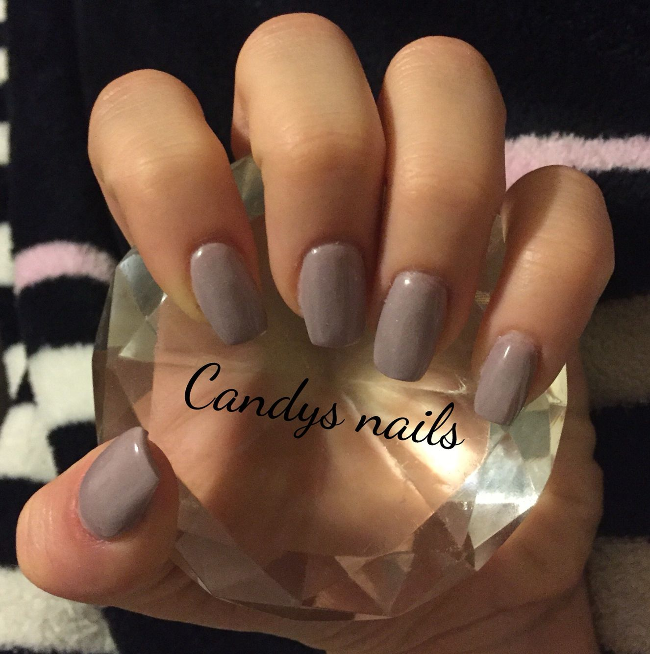 Custom colored acrylic short coffin shaped nails! | Candys Nails ...