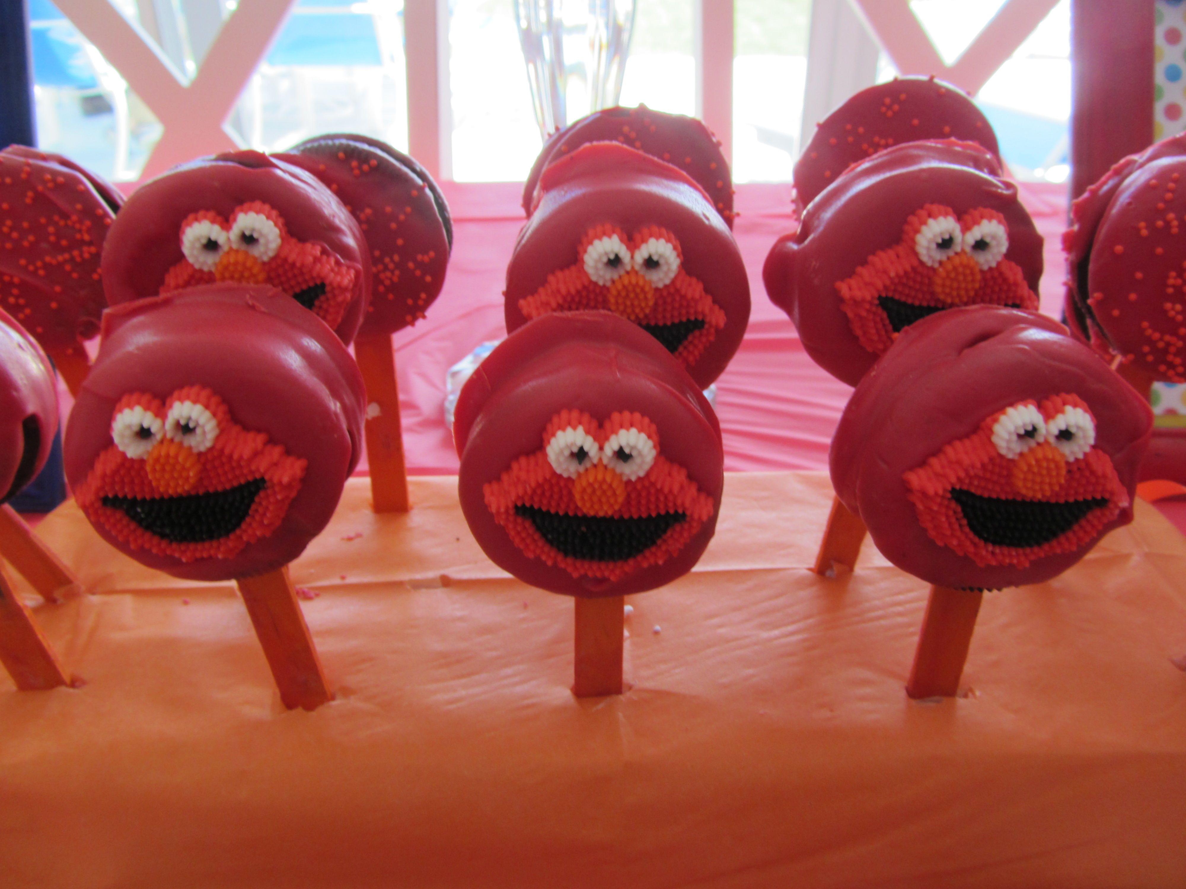 Elmo oreo cake pops red elmo pops sesame street party