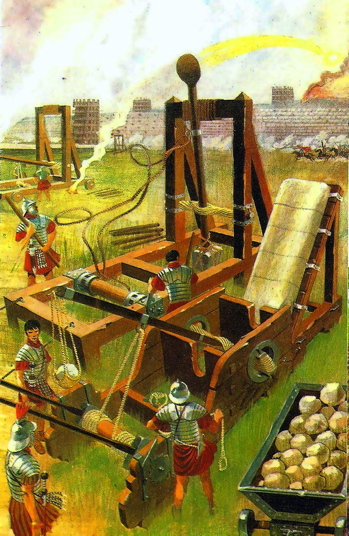 Roman Catapult In Battle Classical War Art Pinterest Motion Diagram Onager