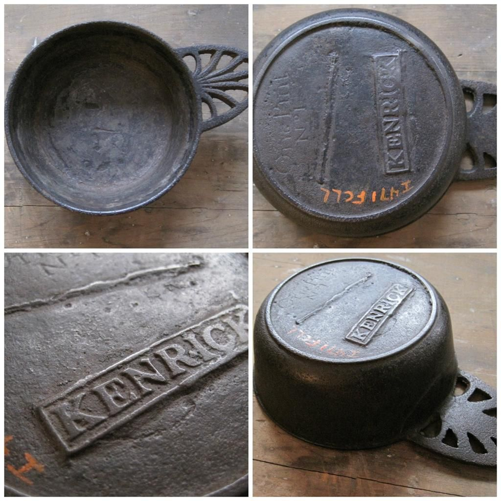Antique c1780 1820 Cast Iron Kenrick Pint Porringer Slave Trade ...