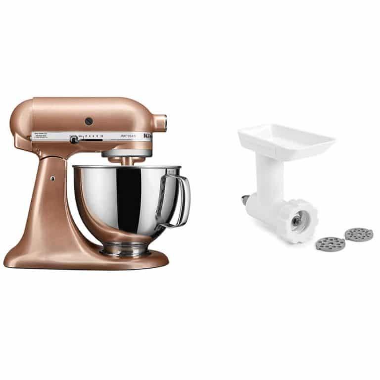 Kitchenaid artisan tilthead stand mixer with food grinder