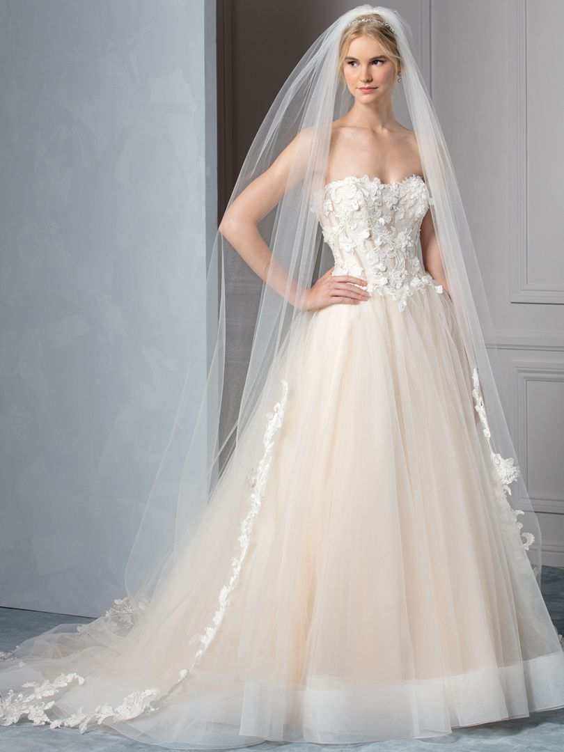 Champagne colored wedding dress  There is nothing that Style BL Azure does not achieve Between