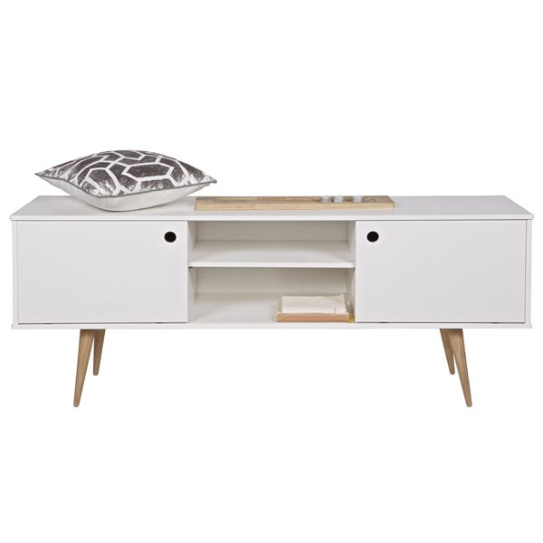 retro tv board m bel sideboard lowboard unterschrank fernsehtisch schrank wei schr nke. Black Bedroom Furniture Sets. Home Design Ideas