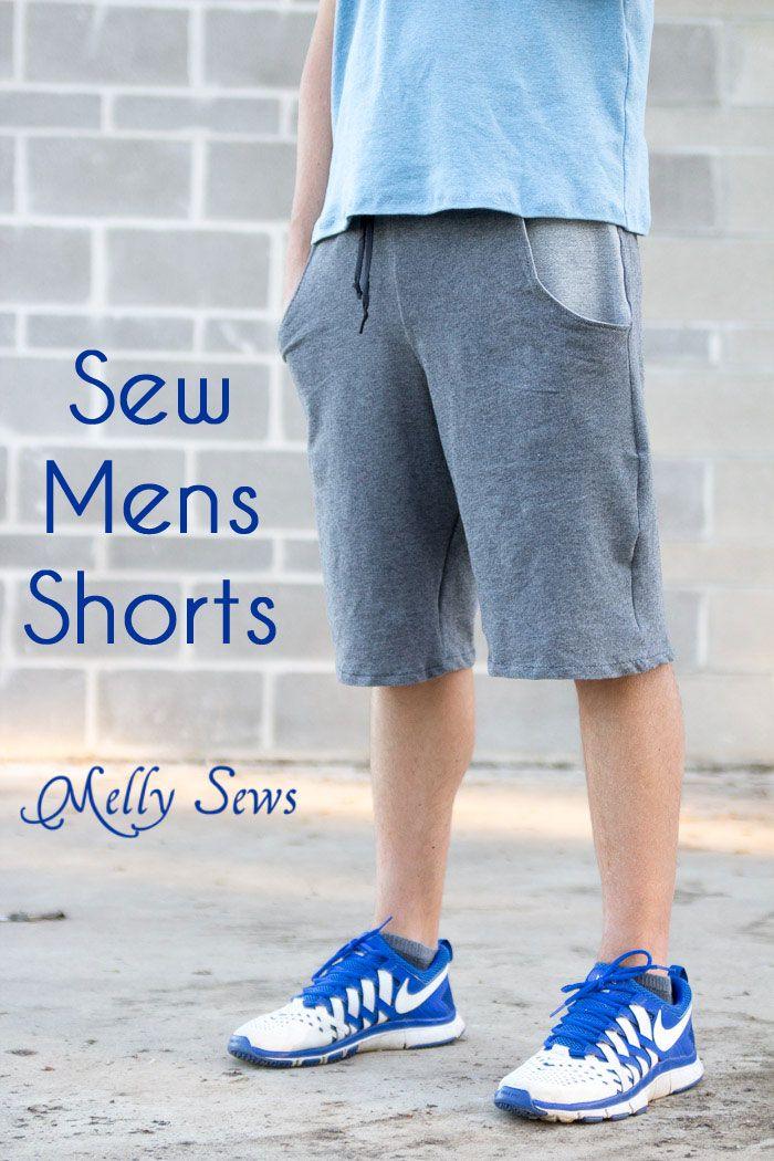 Mens Shorts Tutorial with Pockets | Pinterest | Nähen für männer ...