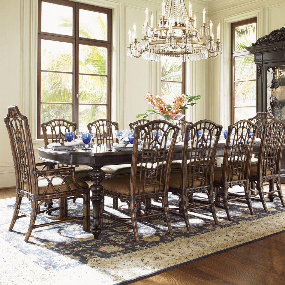 Lexington Home Brands 537 877 Tommy Bahama Royal Kahala Islands Edge Dining Table Dining Room Design Dining Room Sets Dining Room Furniture
