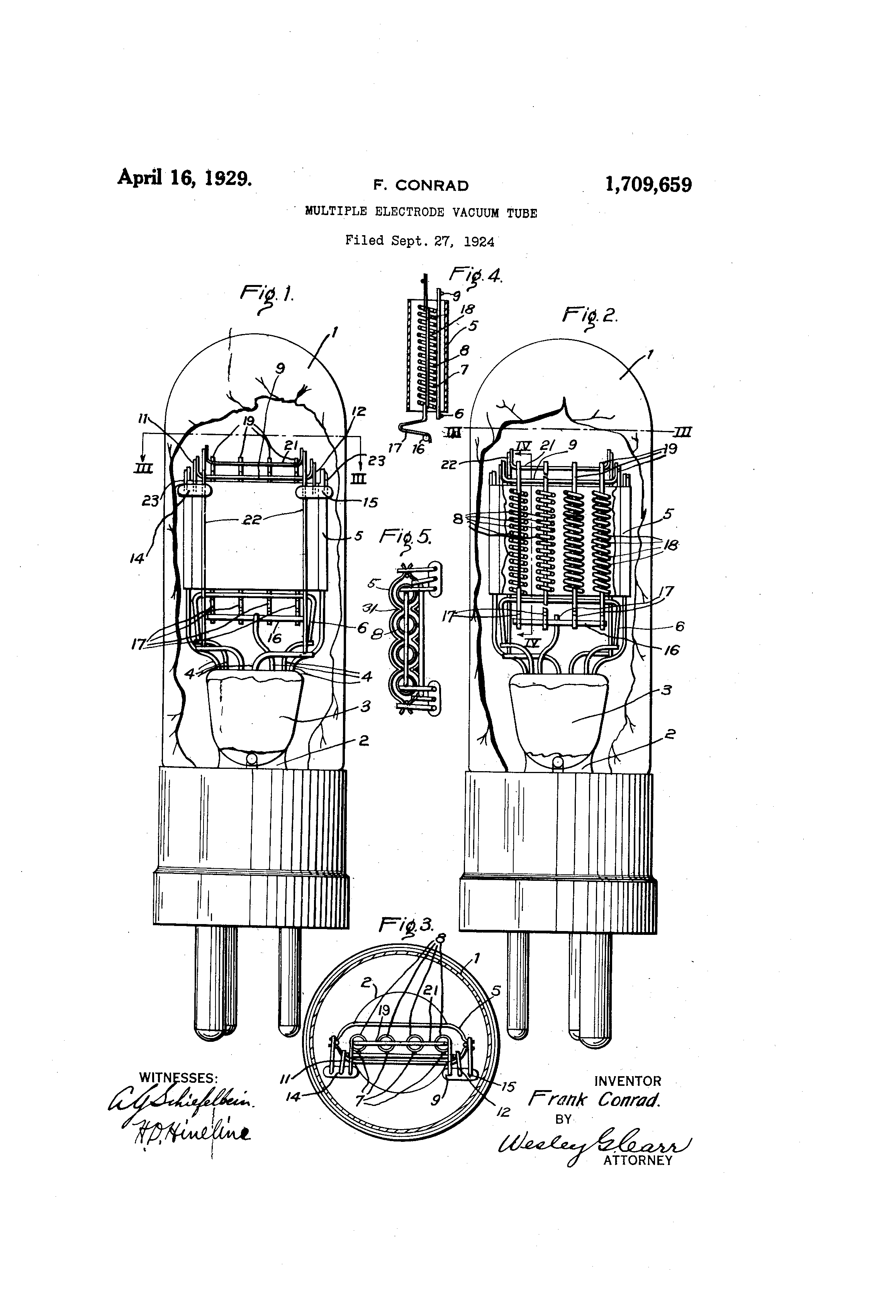 Vacuum Tube Drawing Patent Drawing