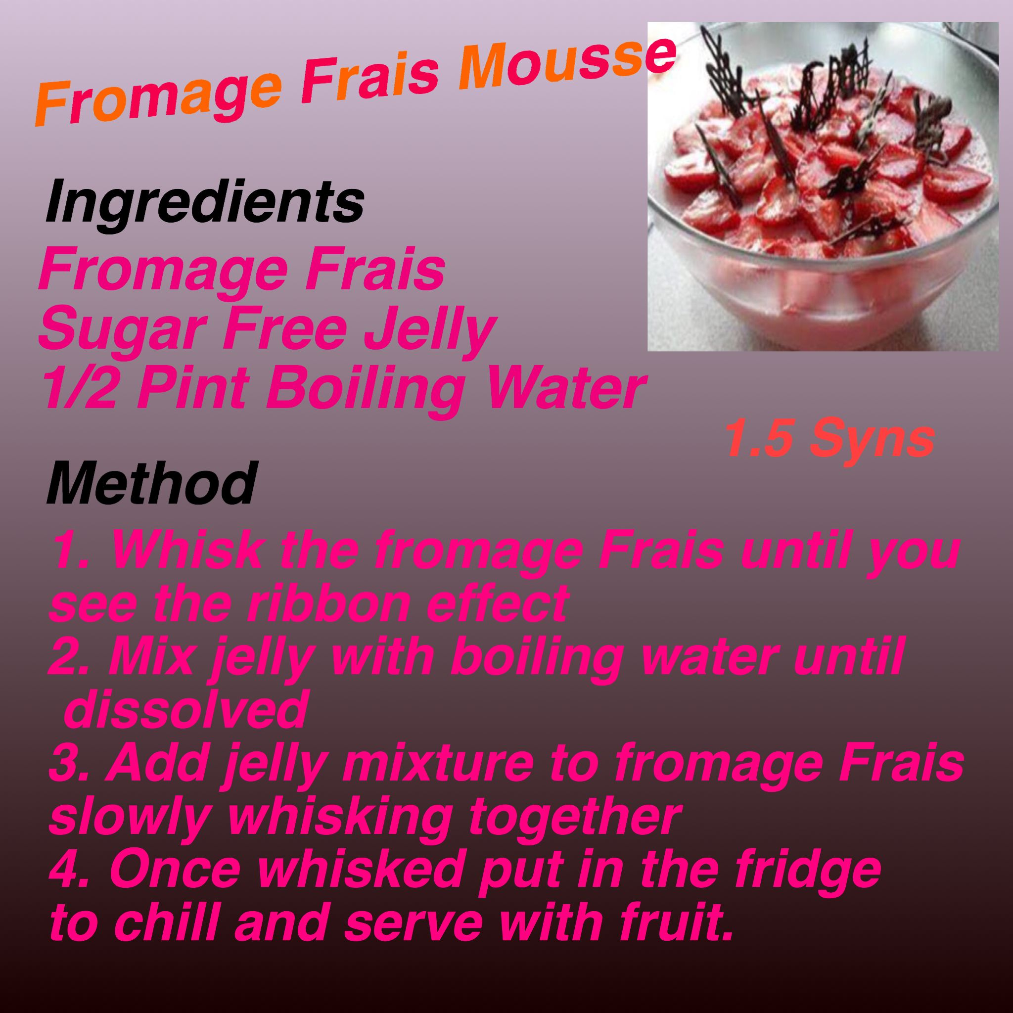 Fromage Frais Mousse