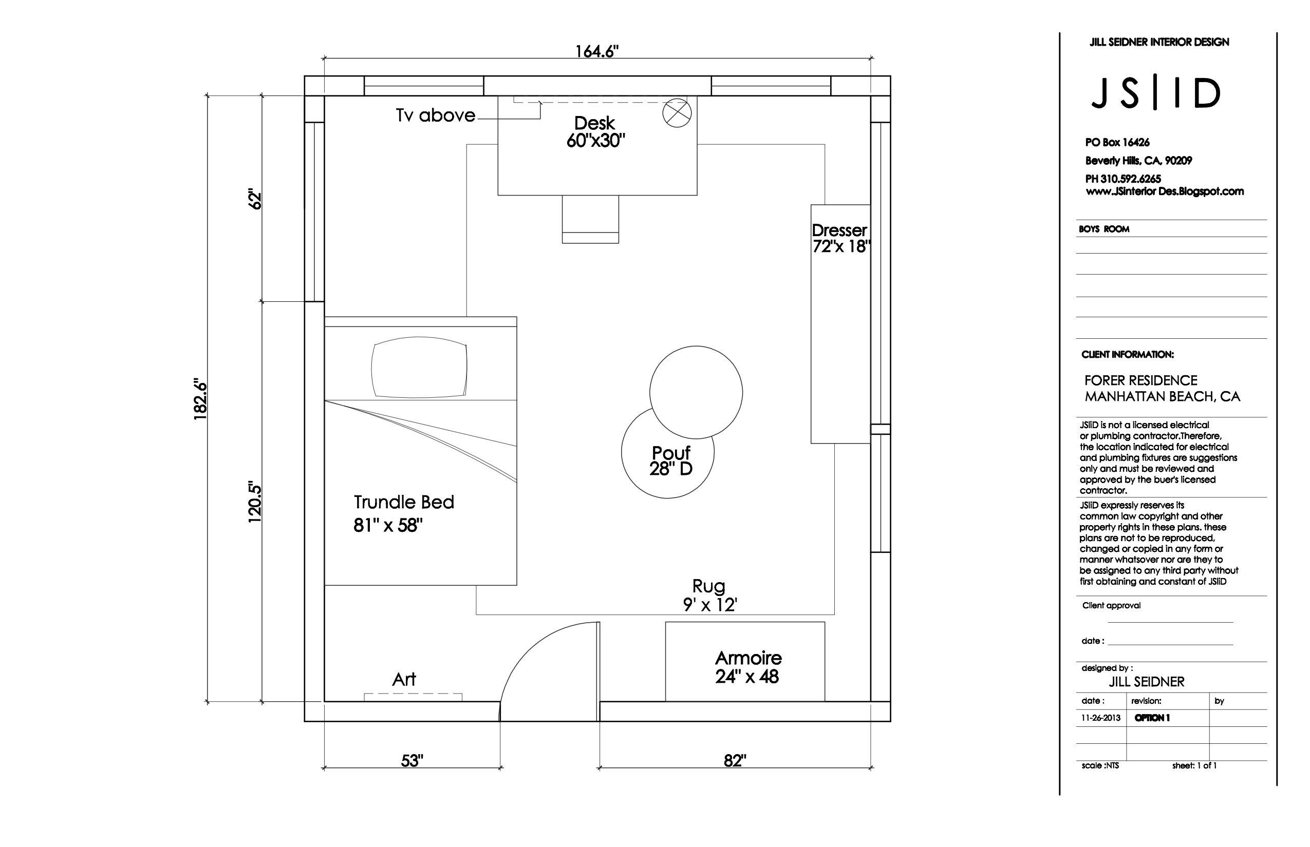 Manhattan Beach Ca Residence Boy S Bedroom Furniture Floor Plan Layout Option 2 Www Jsi Arranging Bedroom Furniture Boys Bedroom Furniture Floor Plan Layout