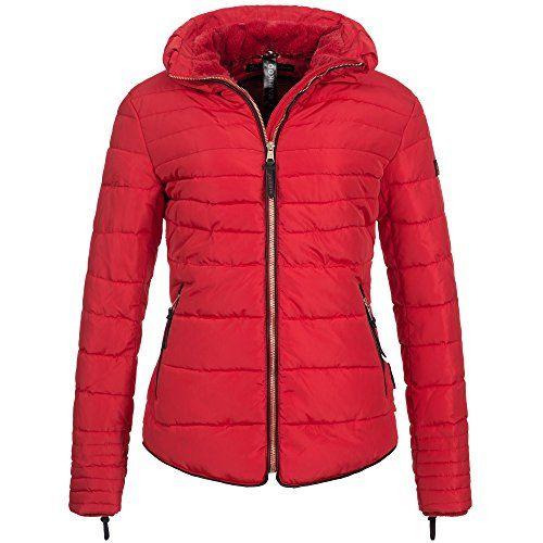 8e056ba5d8 Marikoo AMBER2 Damen Winterjacke Jacke Steppjacke Parka Mantel warm  gefüttert 10-Farben XS-XXL