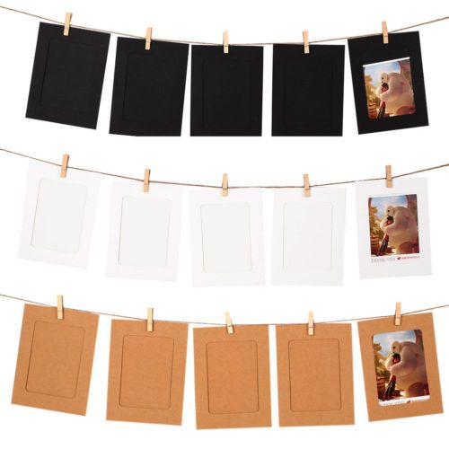 10 Set Diy Wall Picture Paper Photo Hanging 6 Frame Album Rope Clip Decoration Ebay Photo Diy Wall Wall Hanging Photo Frames Photo Frame Wall