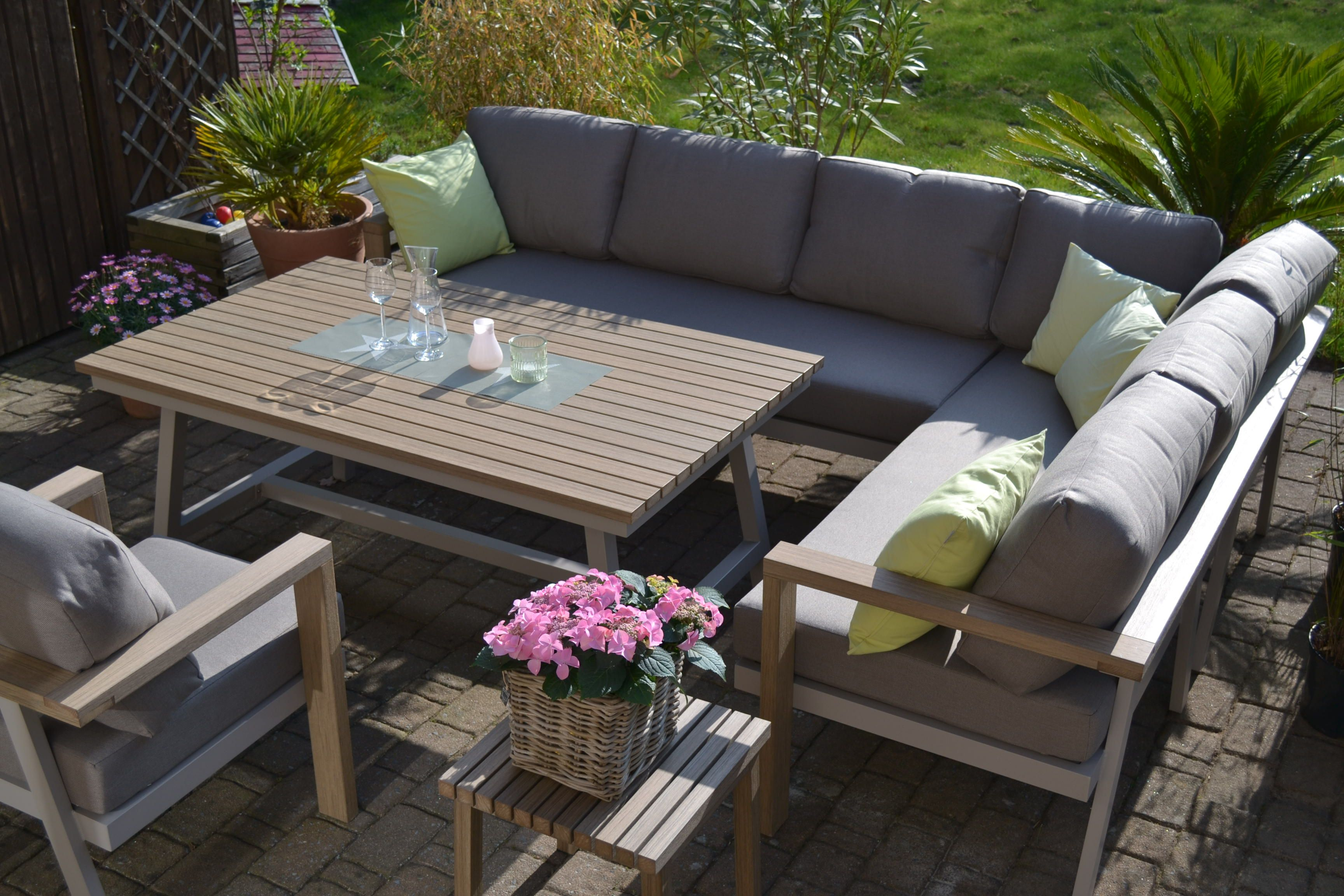 Loungemöbel Holz Outdoor Enviro Wood Ecklounge Sessel Tisch Mailand In 2020 ...
