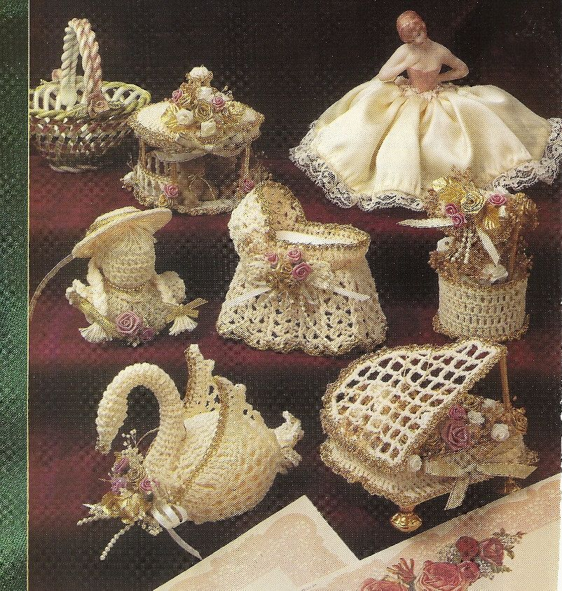 6 Victorian Christmas Ornaments Thread Crochet Pattern Winter ...