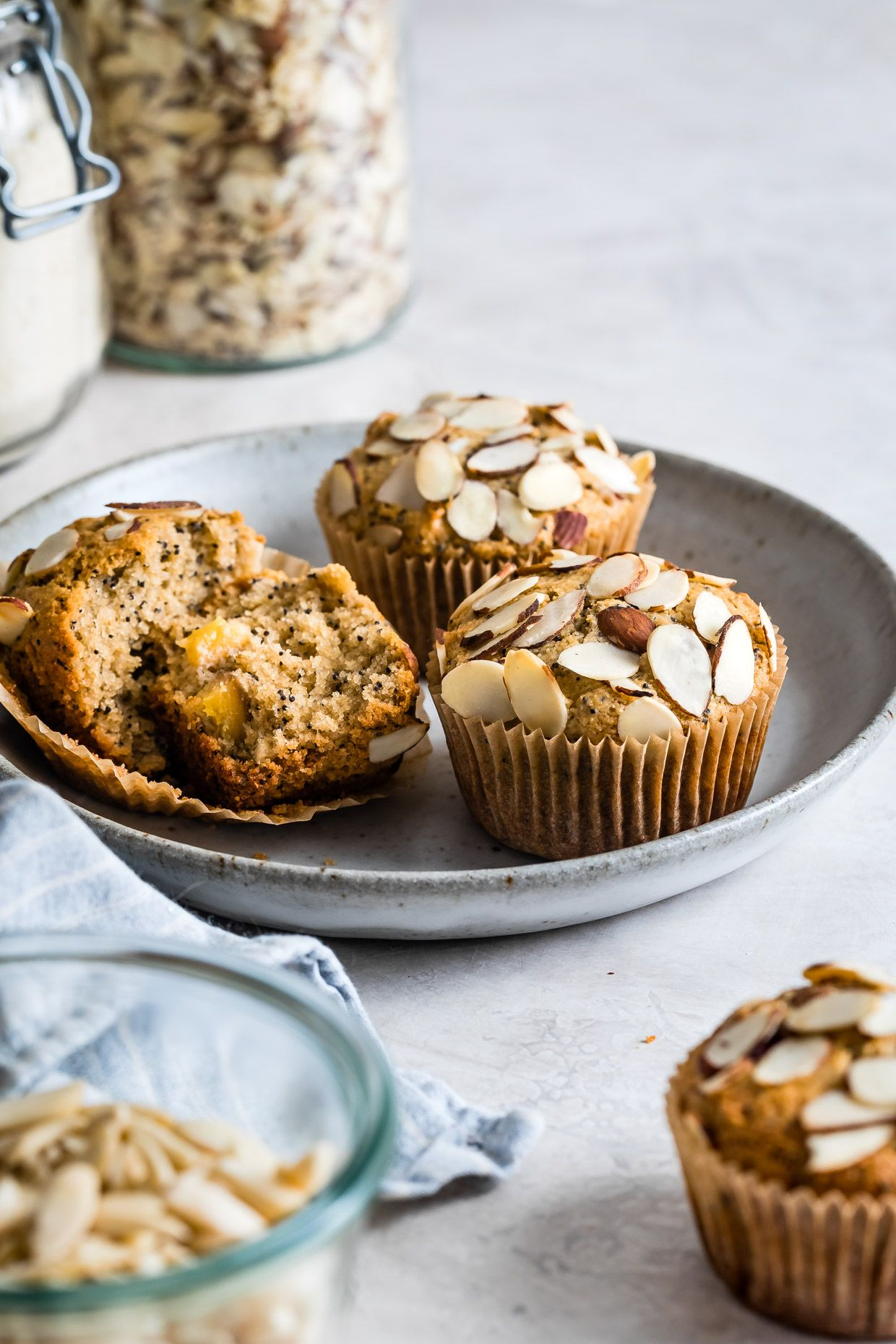 Poppy Seed Almond Flour Muffins With Peaches Recipe Almond