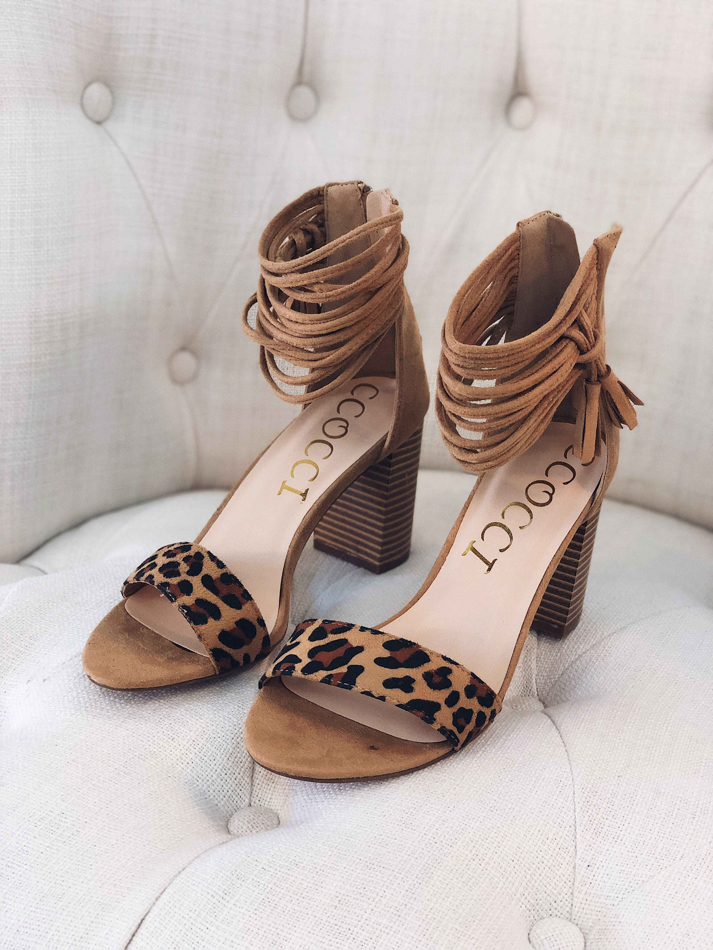 c49a743323 These leopard heels are every girl's dream! Perfect for fall and the block  heel makes them super comfy!