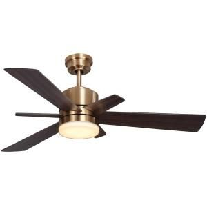 Home Decorators Collection Hexton 52 In Led Indoor Brushed Gold Ceiling Fan With Light Kit And Remote Control 560 Ceiling Fan Fan Light Ceiling Fan With Light