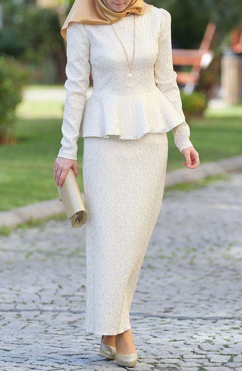 Mihrimah abiye takım ekru dress pinterest kebaya baju