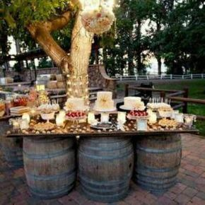 16 outdoor desserts Table ideas