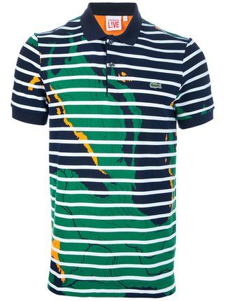 247251cec9aad Lacoste Live Satellite map print polo
