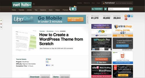 create wordpress theme from scratch tutorial
