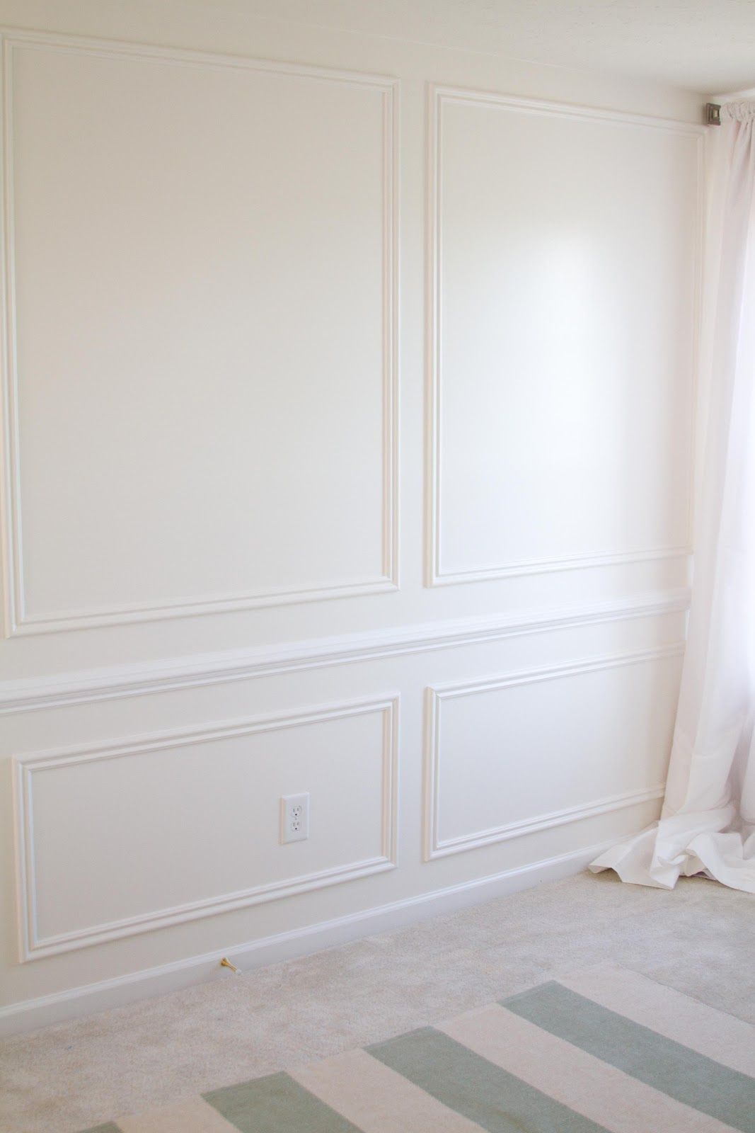 Beautiful Dining Room Idea   Picture Frame Moulding On Full Wall, Via Make It Luxe