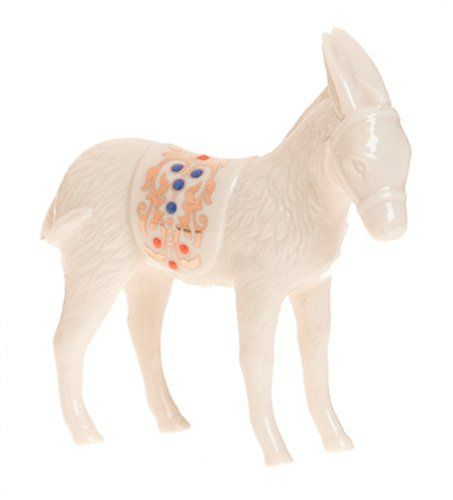 $65.00 Glowing in the jeweled tones of colorful enamel dots and precious 24 karat gold, the donkey is an inspiring piece of art. And you can tell by its expression that even the animals knew that they were witnessing something wonderful. From its pointed ears to its curled tail, this ivory fine china sculpture is the perfect addition to the Lenox China Jewels¿ Nativity.An accompanying piece for  ...