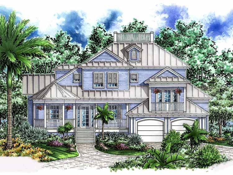 Mediterranean Style House Plan 4 Beds 3 5 Baths 3645 Sq Ft Plan 1017 54 Florida House Plans Beach Style House Plans Beach House Plans