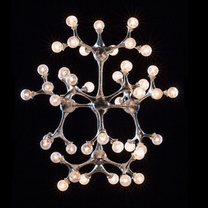 pieter adam lighting organic atomic chandelier