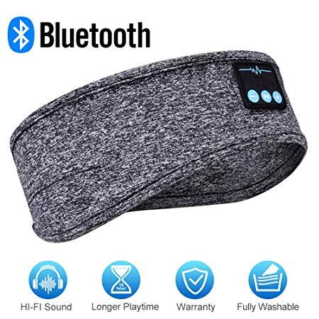 Greenever Sleep Headphones Bluetooth Sleep Headphones Headband Headphones Sleep Mask With Built In Speakers In 2020 Sleep Headphones Music Headphones Wireless Music