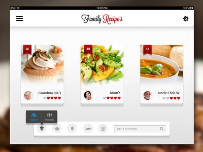 Recipe app ipad ui design pinterest ui design restaurant recipe app ipad forumfinder Choice Image