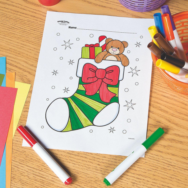Christmas Stocking Free Printable Coloring Page