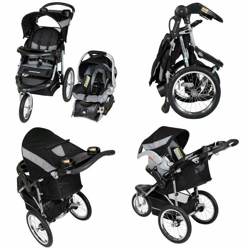 Baby Trend Jogger Travel System Infant Stroller W Carseat Head Support Black New Black Stroller Blackstrolle Baby Strollers Baby Trend Baby Jogger City Mini