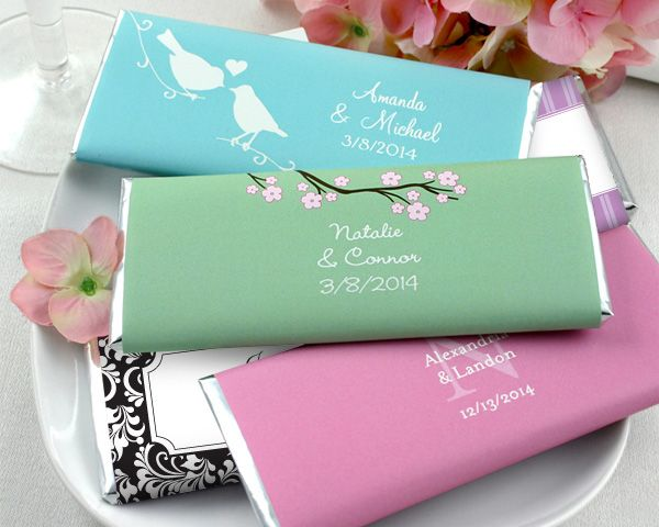 Personalized 1 5 Oz Hershey Chocolate Bars Many Designs Available Wedding Favors