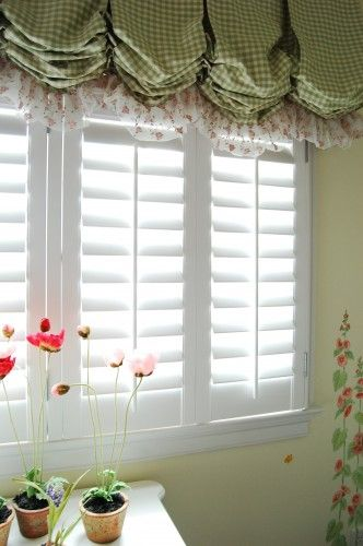 Shutters With Balloon Shade Valance Home Decor