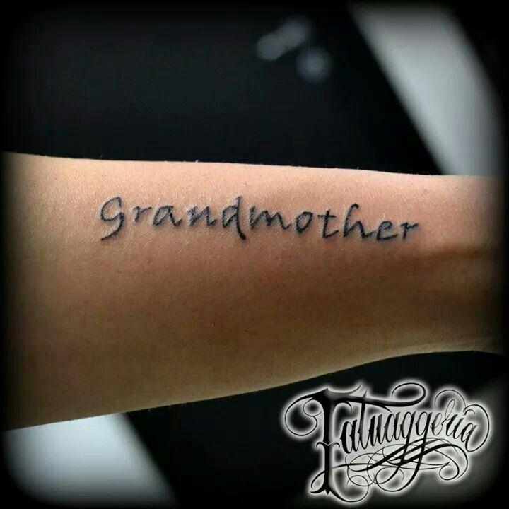 #Grandmother tattoo
