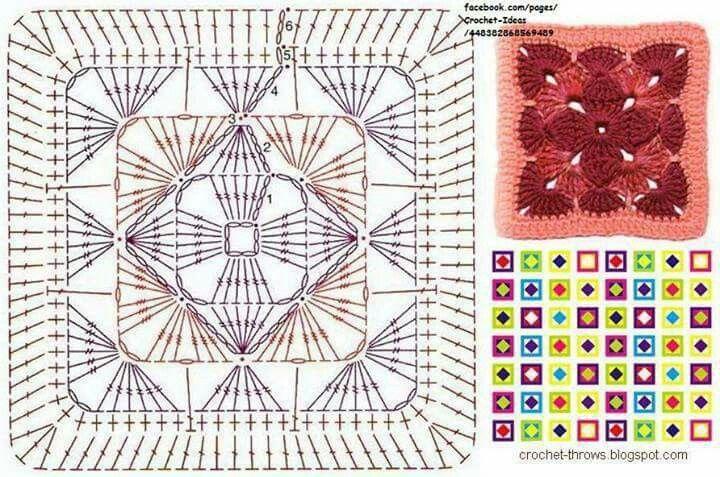 Beautiful Granny square. | Croche4 | Pinterest | Aplicación ...