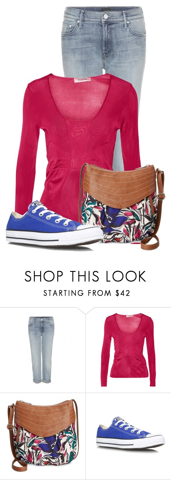 """""""Untitled #13531"""" by nanette-253 ❤ liked on Polyvore featuring Mother, Valentino, Style & Co. and Converse"""