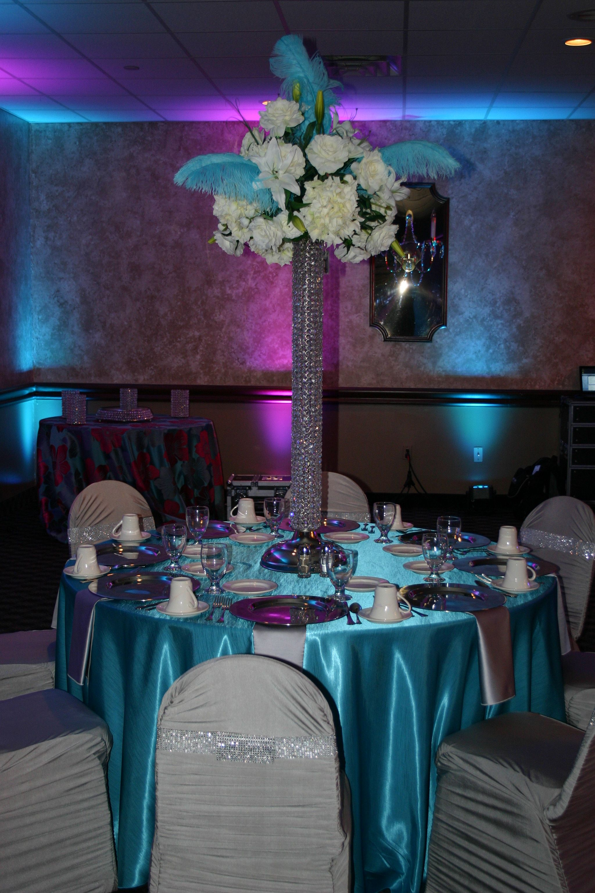 A Clients Wedding Reception Tablescapes And Centerpiece Designed