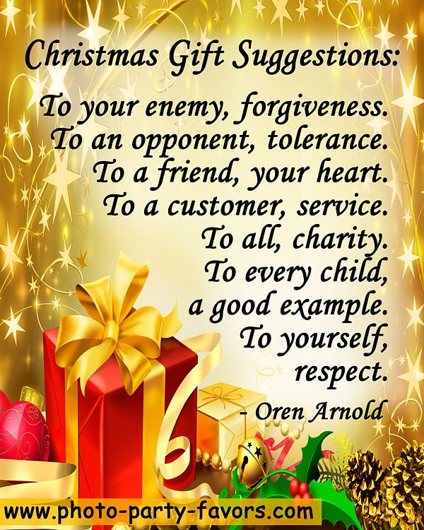 """Christmas Gift Suggestions: To Your Enemy, Forgiveness"