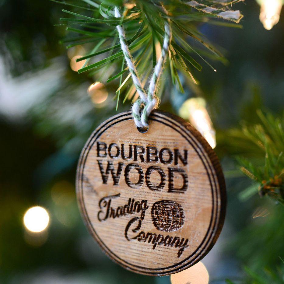 Company Logo Christmas Ornaments: This Christmas Ornament Displays The Bourbon Wood Trading