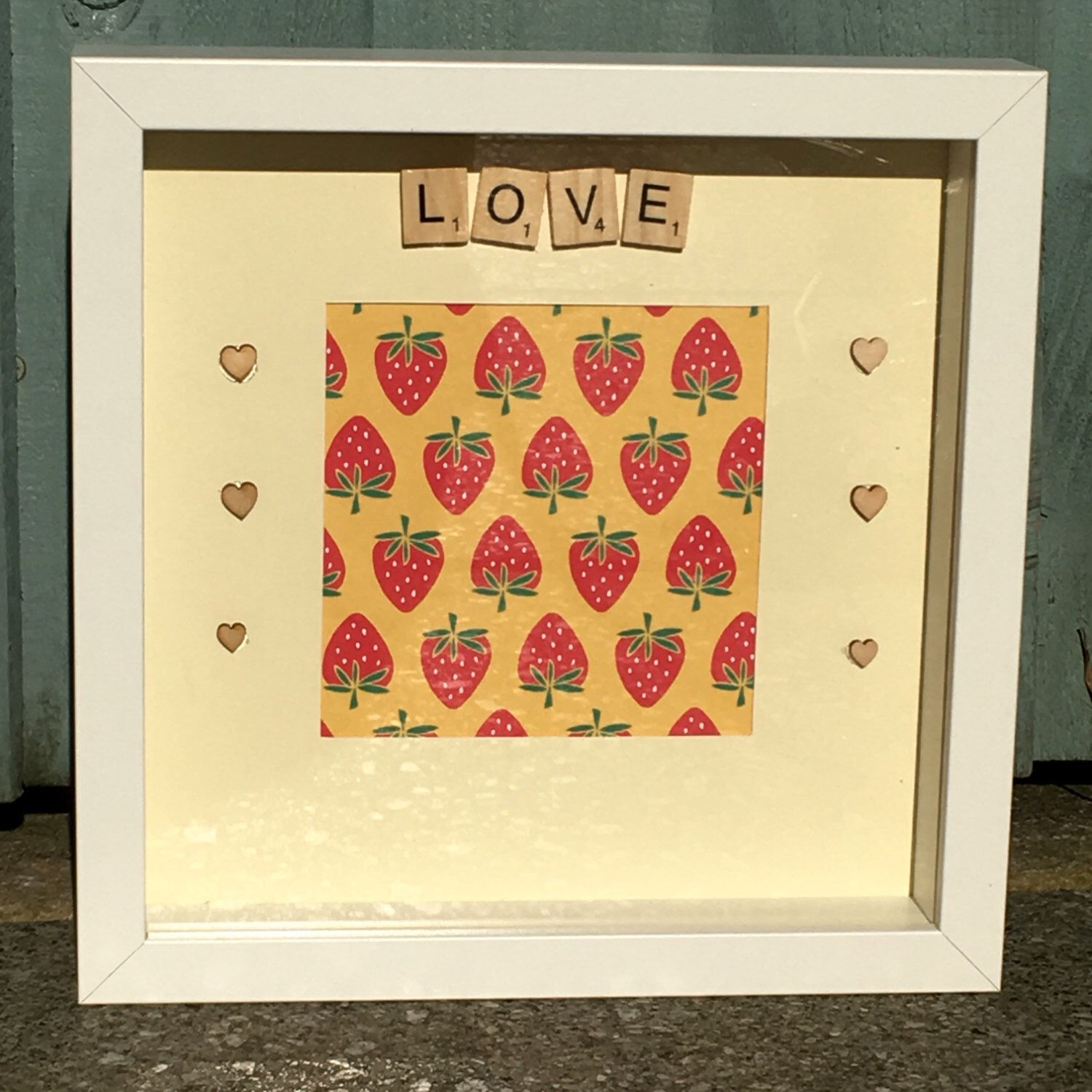 Gift For Her, Love Box Photo Frame, Scrabble Box Frame,