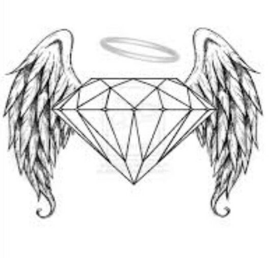 diamond wings halo tattoo tattoos pinterest halo