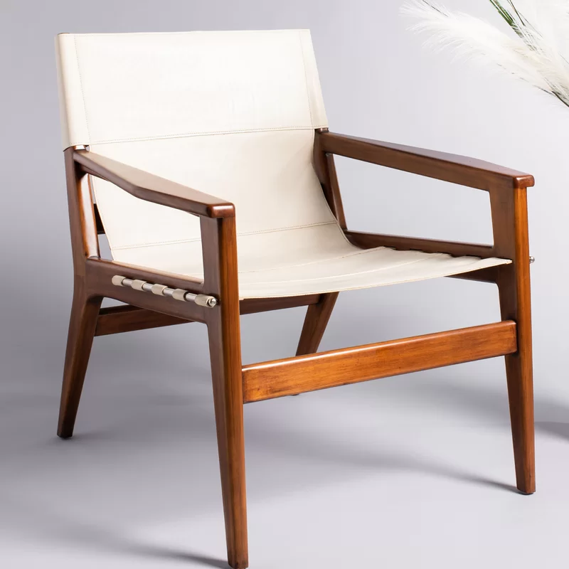 Digby Leather Sling Chair In 2020 Leather Sling Chair Sling Chair Chair