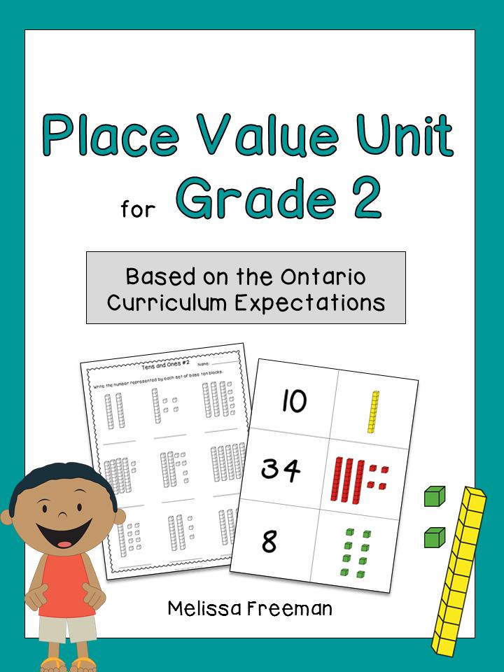 Place Value Unit for Grade 2 (Ontario Curriculum) | Ontario ...
