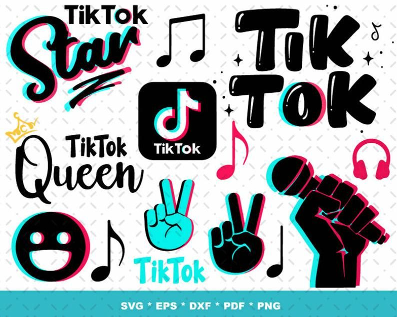 1 000 Tik Tok Svg Bundle 1 0 Files For Cricut Svg Png Etsy In 2020 Create Sign Tok Svg