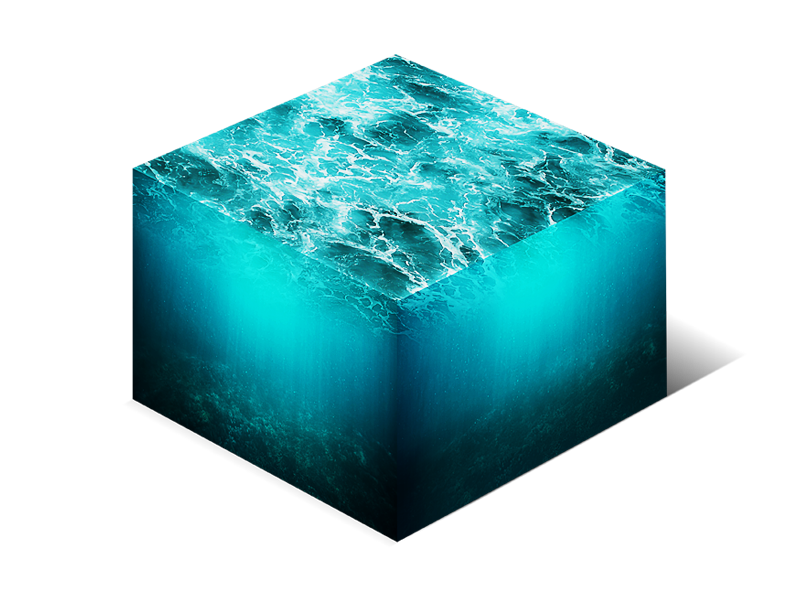 Isometric Water Cube 3d Cross Section Png Stock Photo Sea Texture Isometric Design Isometric Art