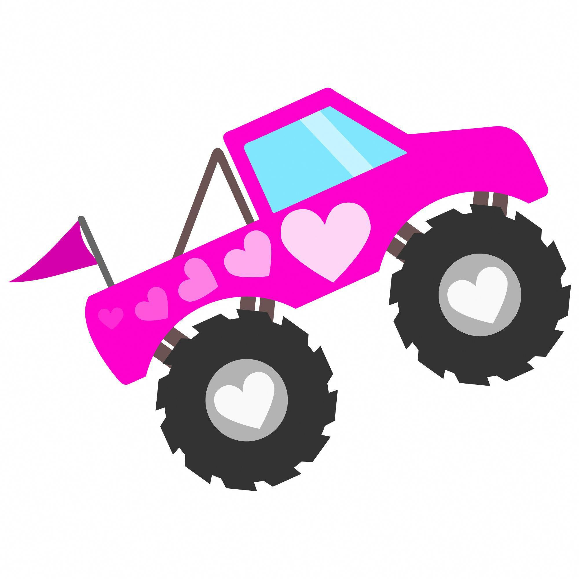 Old Lifted Trucks In 2020 Monster Truck Birthday Pink Truck Monster Truck Party